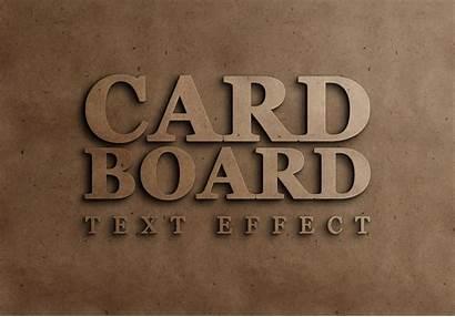 Text Effect Cardboard Psd