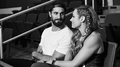 seth rollins  becky lynch share  moment
