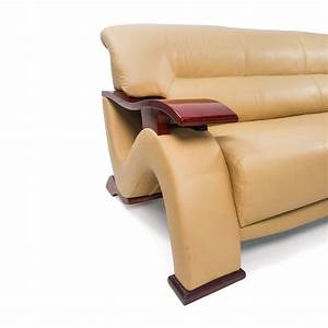 84 off unknown brand contemporary beige leather sofa for Modern beige sectional sofa furniture