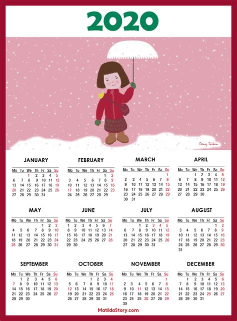 calendars monday start matildastorycom