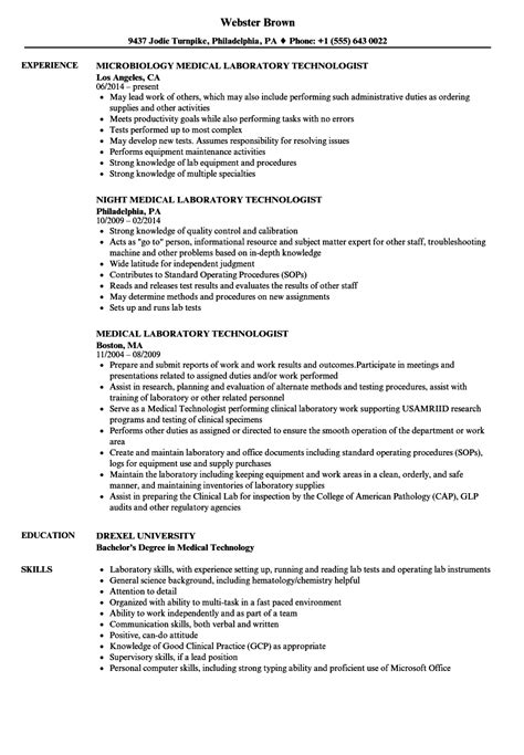 Technologist Resume by Resume Format For Laboratory Technologist
