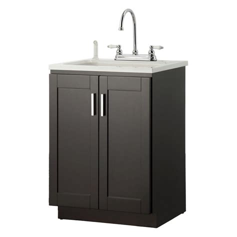 utility sink cabinet foremost palmero 24 in laundry vanity in espresso and abs