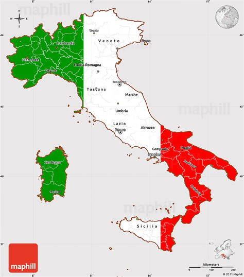 flag simple map  italy