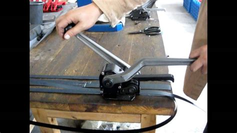 steel strapping tool  seal  combination sealer  cutter youtube