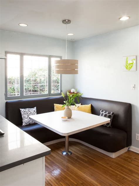 L Shaped Banquette - 12 ways to make a banquette work in your kitchen hgtv s