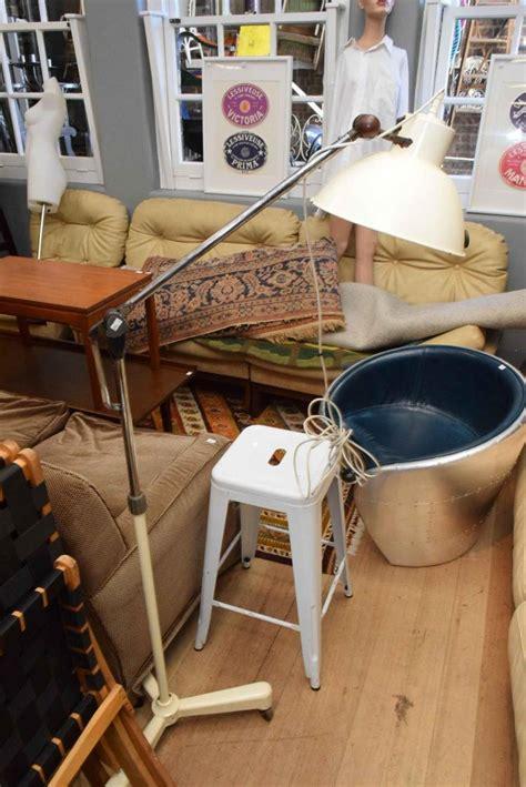 floor l industrial vintage a vintage industrial white enamel floor lamp