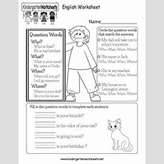 English Worksheet  Free Kindergarten English Worksheet For Kids