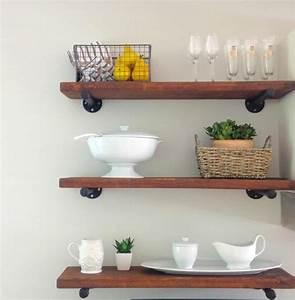 Diy, Rustic, Kitchen, Shelves