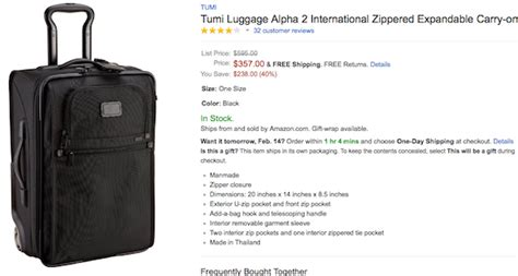 65172 Tumi Discount Coupon by Tumi Alpha International For 286 One Mile At A Time