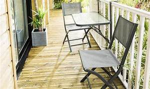 Salon Pour Balcon : salon de balcon pliant 1 table et 2 chaises gris anthracite ~ Teatrodelosmanantiales.com Idées de Décoration