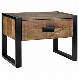 Table De Chevet Metal : atelier chic industriel table de chevet en bois avec ~ Melissatoandfro.com Idées de Décoration