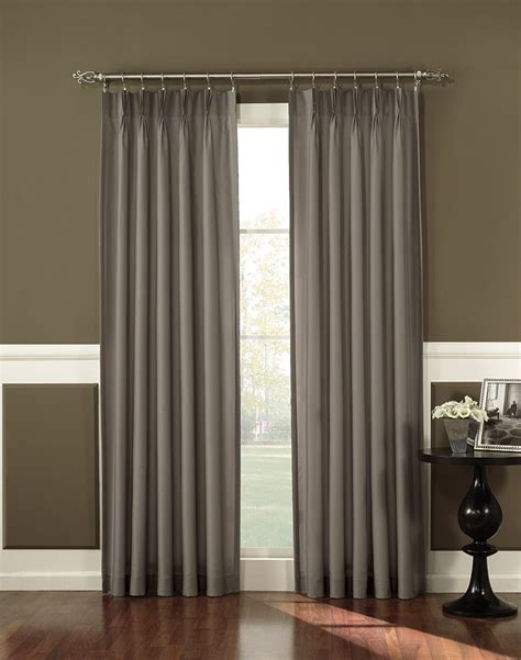Long Kitchen Curtains Antoinette Pleated Back Tab Curtain Panel Curtainworks Com