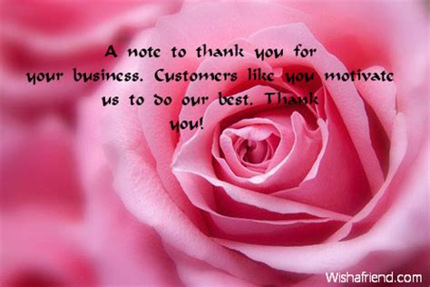 Thank You Note for Your Business