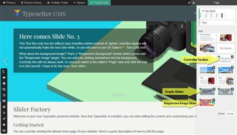 slider factory plugins typesetter cms