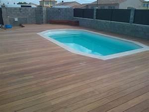 Carrelage Tour De Piscine : terrasse piscine bois ou carrelage diverses ~ Edinachiropracticcenter.com Idées de Décoration
