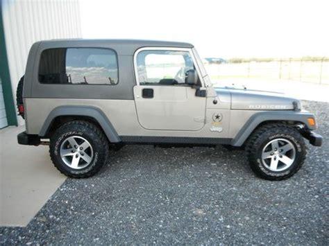 tan jeep wrangler 2 door buy used 2005 jeep wrangler unlimited rubicon sport