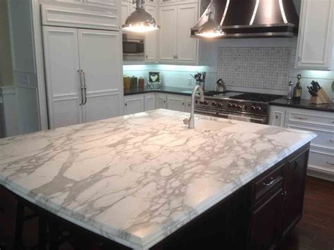 kitchen island with marble top marble countertops a choice for any kitchen