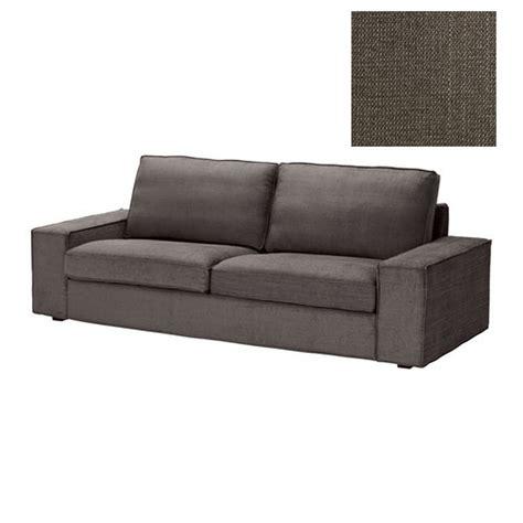 ikea kivik 3 seat sofa slipcover cover tullinge gray