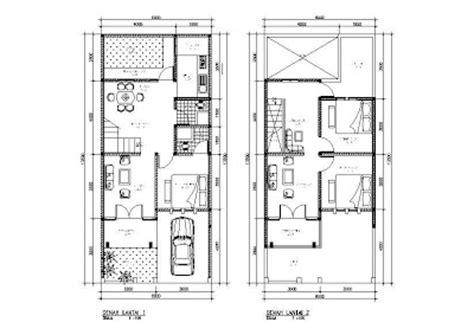gambar denah rumah  lantai info menarik