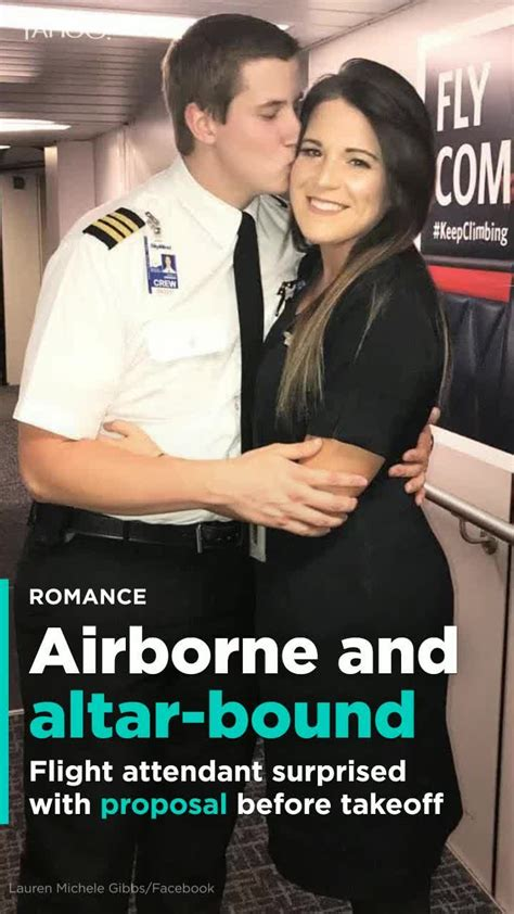 Pilot proposes to flight attendant girlfriend before takeoff