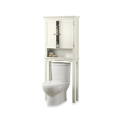 fairmont  standing space saver cabinet  white bed bath