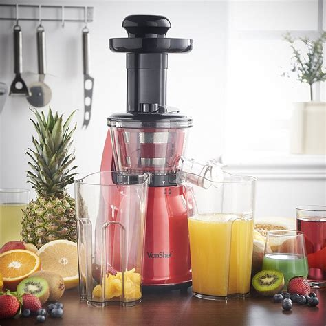 juicer masticating machine vonshef quiet vegetable fruit motor highly slow professional amzn juice