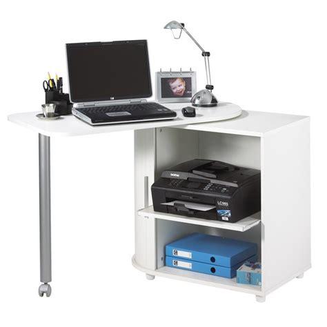 bureaux informatique pas cher bureau informatique blanc pivotant beaux meubles pas chers