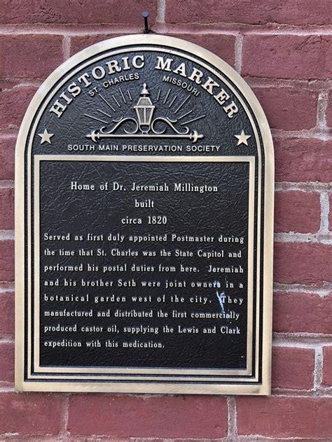 Home Of Dr Jeremiah Millington Historical Marker