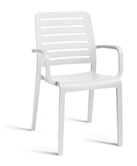 chaise allibert allibert country chair with armrests white