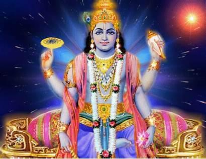 Vishnu India Dioses Lord Throne Dios Hindu