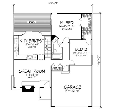 basement garage house plans traditional style house plan 2 1 basement garage 1020