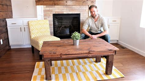 The $30 Farmhouse Coffee Table  Easy Diy Project Youtube