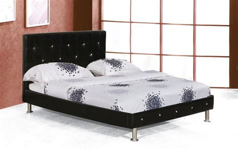 Black Leather Headboard With Diamonds by I C Beds Headboard Bed Frame In King Faux