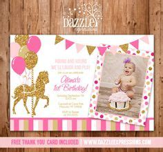 a pink gold carousel 1st birthday party party ideas char 39 s 1st bday party on carousel horses