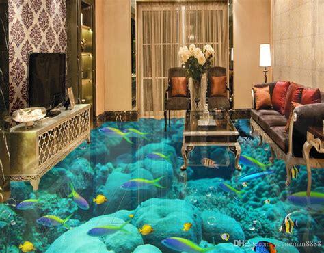 flooring custom wallpaper scenery  walls ocean world