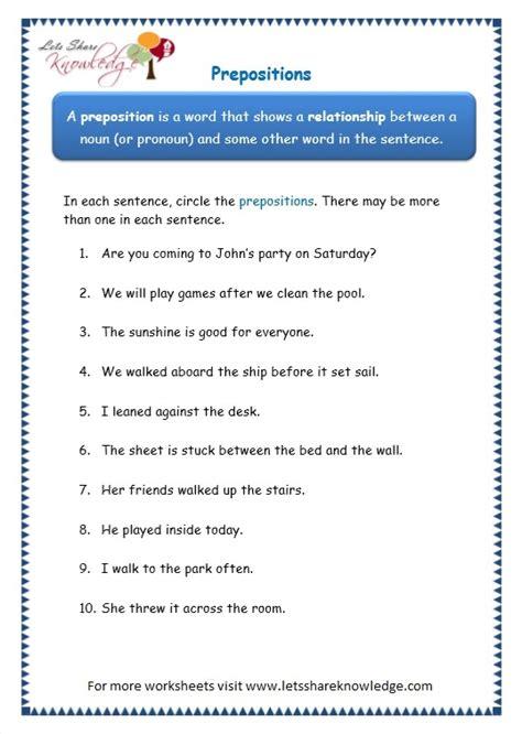 All Worksheets » Preposition Worksheets Grade 3  Printable Worksheets Guide For Children And