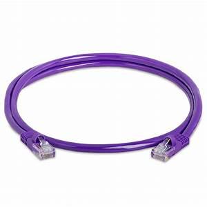 Purple Rj45 Cat5e Ethernet Lan Network Cable  U2013 3 Feet