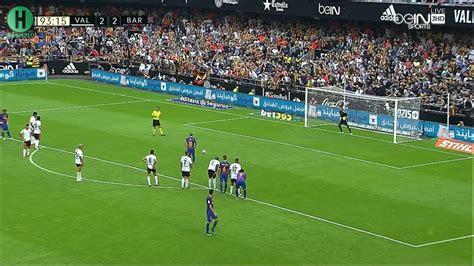 ملخص مبارة فالنسيا و برشلونة  23  الدوري الإسباني 22