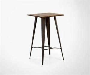 Table Haute Bois : table haute m tal et bois style industriel int rieur et ~ Melissatoandfro.com Idées de Décoration