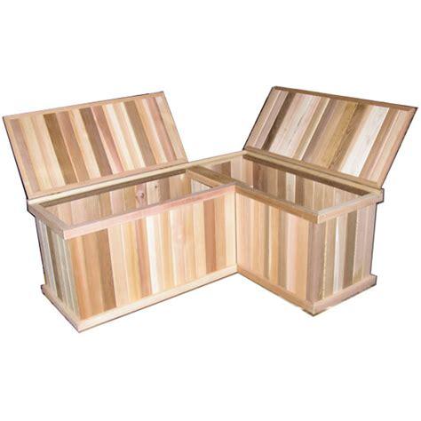 corner storage bench corner storage benches cedar chest