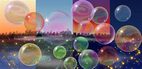Moving Bubbles Desktop Wallpaper