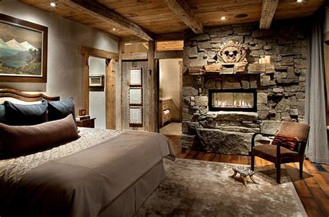 Rustic Master Bedrooms With Fireplaces Home Design Ideas