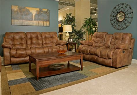 Console Loveseat by Catnapper Watson Lay Flat Reclining Sofa Set Almond Cn
