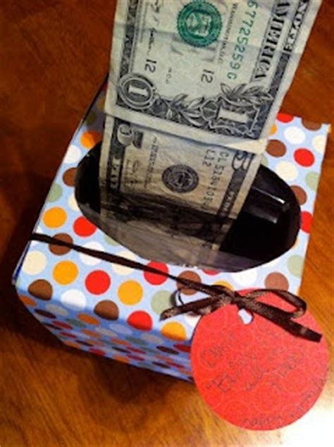 gift idea money tissue box