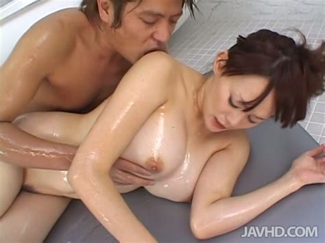 giggling ardent asian slut rina wakamiya takes a bath and gets erotic massage