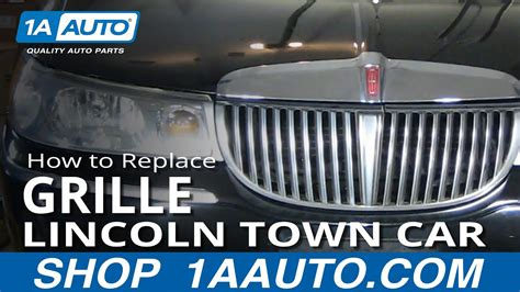 how to replace grille 98 02 lincoln town car