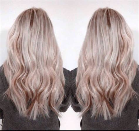 Ash Blonde Hair With Rose Gold Lowlights In 2019 Ash