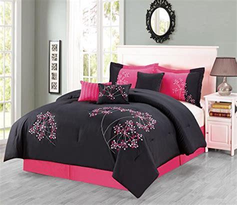 black and pink bedding sets