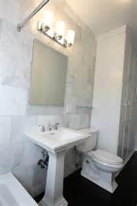 ideas for bathroom flooring white bianco carrara marble transitional bathroom