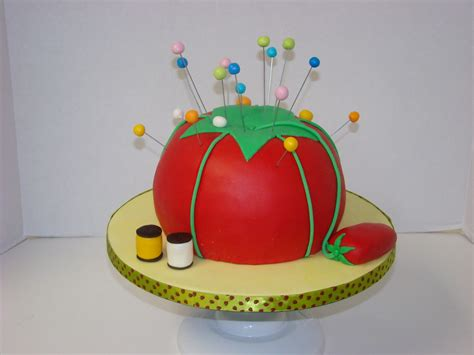 sewing tomato cake      cake